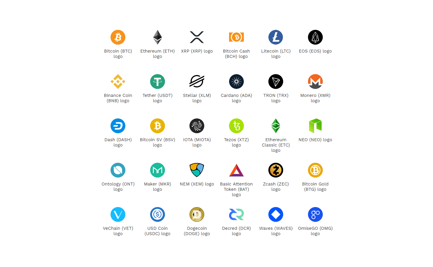 Crypto Logos Cryptocurrency Logo Files Svg Png Download